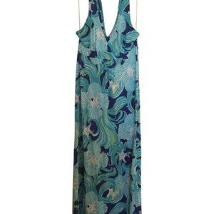 Lilly Pulitzer Blue Do the Wave Petra Maxi Dress